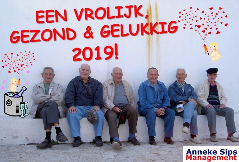 Een vrolijk gelukkig en gezond 2019